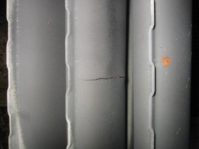 Cracked Heat Exchanger